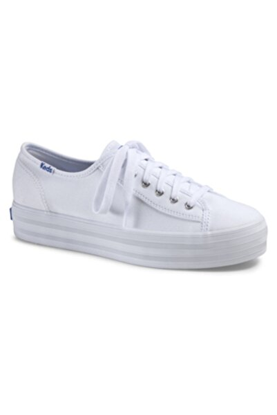 Keds Kadın Beyaz Trıple Kıck Canvas  Sneaker