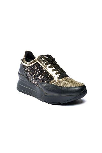Riccardo Colli Kadın Siyah Deri Günlük Ayakkabı Colli 8533