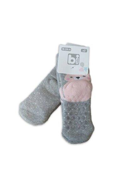 Bibaby 2'li Havlu Kaymaz Çorap