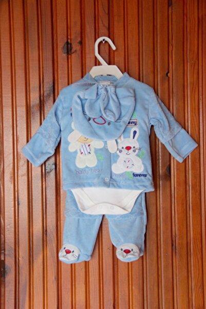 Dandini Erkek Bebek Mavi Desenli 5li Takım