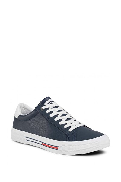 Tommy Hilfiger Erkek Lacivert Essential Leather Erkek Sneaker Ayakkabı Em0em00488
