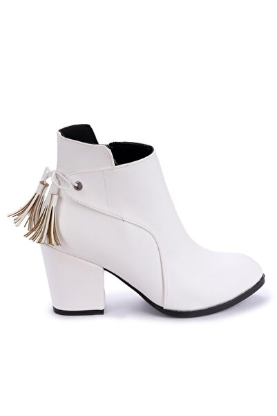 Ayakland 1111-2104 Cilt 6 Cm Topuk Termo Kadın Bot Ayakkabı