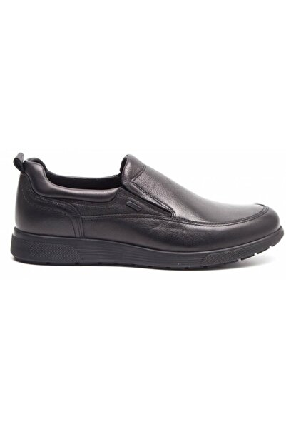 Greyder Erkek Siyah Deri Comfort Casual 10205