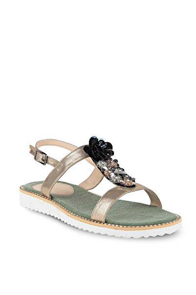 Crash Kadın Altın Rengi  Sandalet 352301