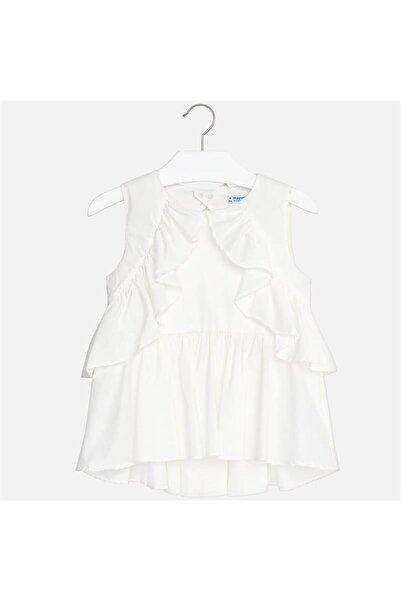 MAYORAL Kız Çocuk Fırfırlı Poplin Bluz