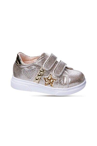 Sanbe Kız Çocuk Altın Rengi  Suni Deri Ayakkabı