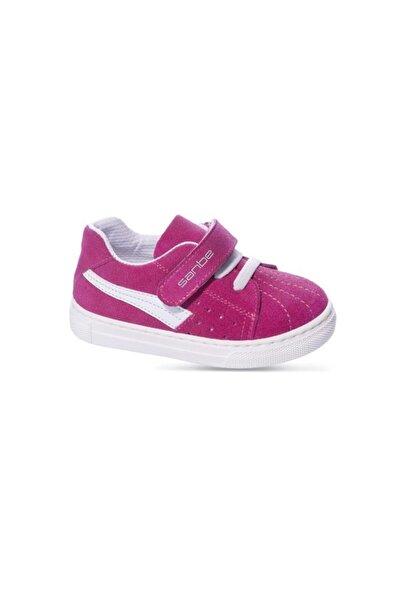 Sanbe Kız Çocuk Pembe Deri Ayakkabı