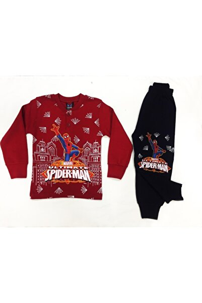 Tarık Erkek Çocuk Spıderman Baskılı Pjama Takımı