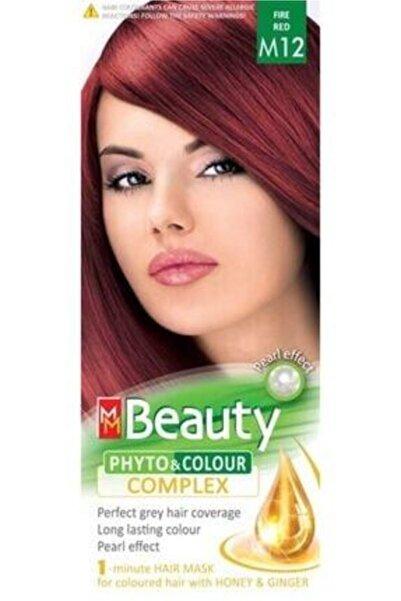 Beauty Mm Ateş Kızılı Bitkisel Saç Boyası M12 57896