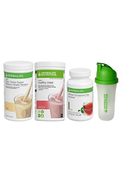 Herbalife Aylık Ekonomik Set-6 1 Ahududu 1 Vanilyalı Shake +100gr Çay + Shaker