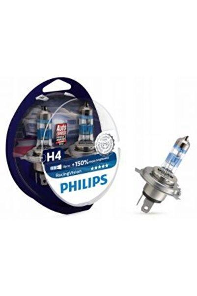 Philips H4 +150 Fazla Işık Racing Vision X-treme 12v