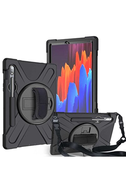 zore Galaxy Tab S7 Plus T970 Tablet Kılıfı Defender Tank & Zırh Kapak