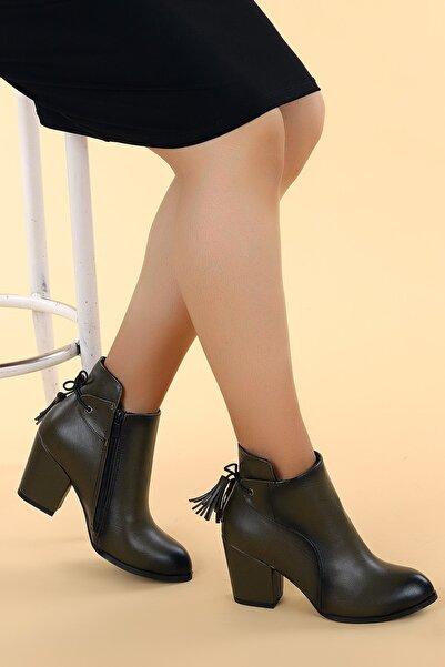 Ayakland Cilt 6 cm Topuk Termo Kadın Bot Ayakkabı 1111 2104