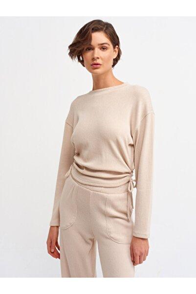 Dilvin Kadın Taş 3615 Büzgülü T-shirt-