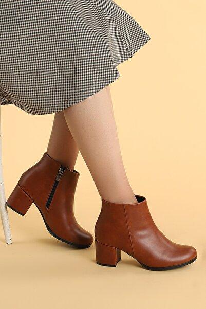 Ayakland Kadın Taba Topuk Termo Taban Bot 520 6 cm