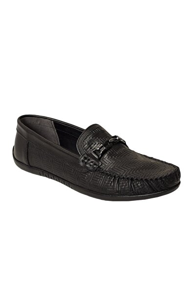 ALTINYILDIZ CLASSICS Erkek Siyah Günlük Rahat Loafer Ayakkabı
