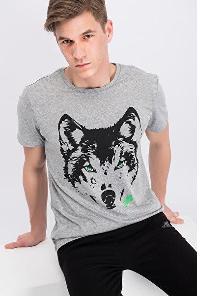 New Balance Erkek Gri T-Shirt-J2621V-MTT615-AG
