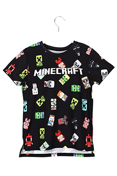 MINECRAFT Erkek Çocuk Siyah T-shirt