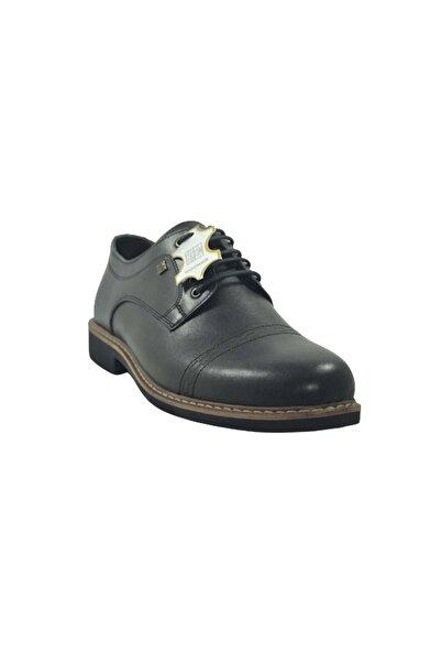 Nobel Erkek Siyah Bağlı Hakiki Deri Ayakkabı St03873