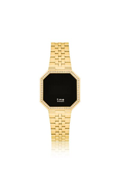 Timewatch Kadın Sarı Dokunmatik Kol Saati