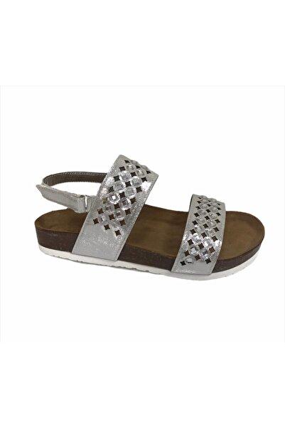 Sanbe 502 L 4102 26-30 Suni Deri Sandalet-gümüş