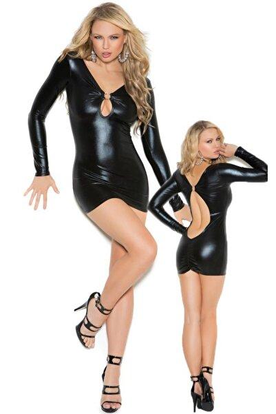 colsshopping Dekolteli Parlak Elbise