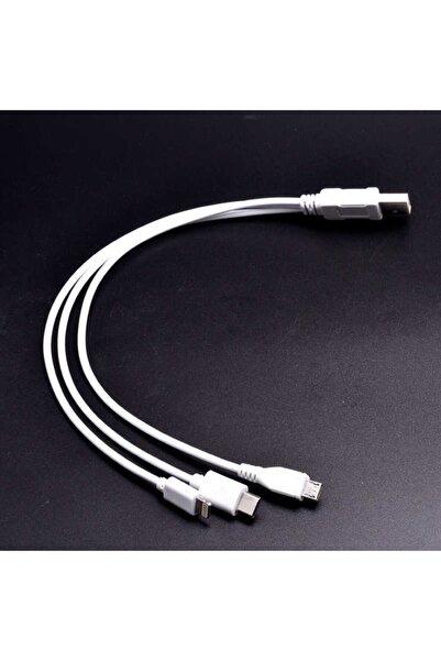 dijimedia 3 In 1 Usb Kısa Kablo Lightning+micro+type-c -