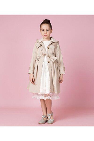 GOOSE Kız Çocuk Bej Eteği Büzgülü Trençkot G20k20403