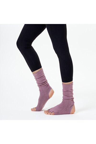 Nui Yoga Gül Kurusu Bilekli Yoga & Pilates Çorabı