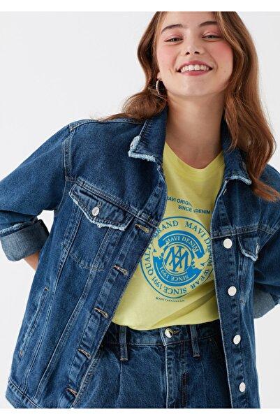 Mavi Kadın Karla Gold Icon Koyu Jean Ceket 110154-30105