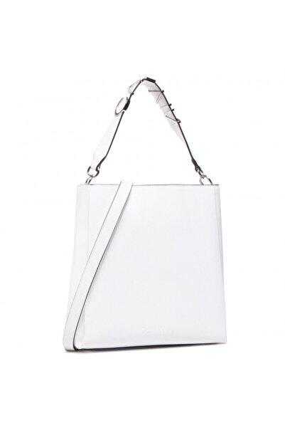 Calvin Klein Kadın Beyaz Çanta K60k607420-0k8
