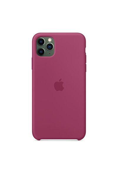 Apple Iphone 11 Pro Max Silikon Kılıf Bordo - Mxm82zm/a ( Türkiye Garantili)
