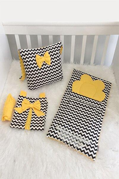modastra Siyah Zigzag Ve Sarı Kombin Bebek Bakım Seti