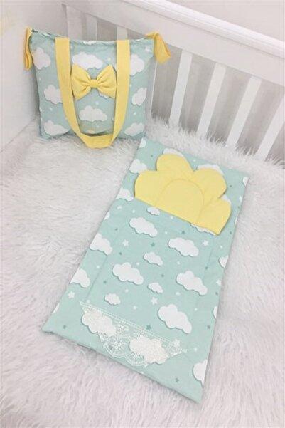 modastra Yeşil Bulutlu Altaçma Ve Bebek Bakım Çantası