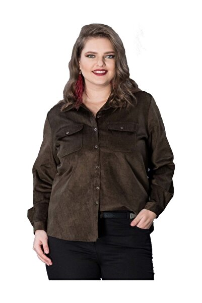 Günay Giyim Kadın Haki Gömlek 9643