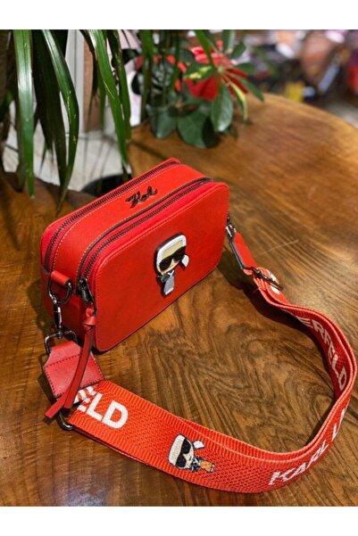 Karl Lagerfeld Kadın Kırmızı Omuz Çantası