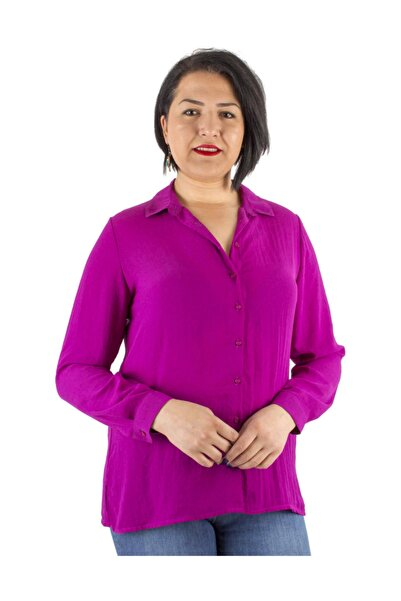 Günay Giyim Kadın Mor Gömlek Lm63320