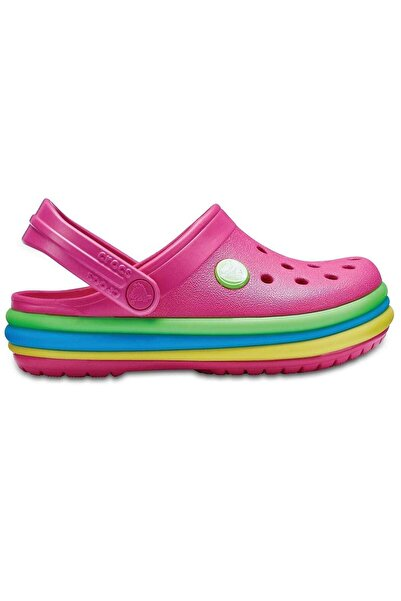 Crocs Kids Çocuk Pembe Koyu Crocband Rainbow Band Clog  Terlik