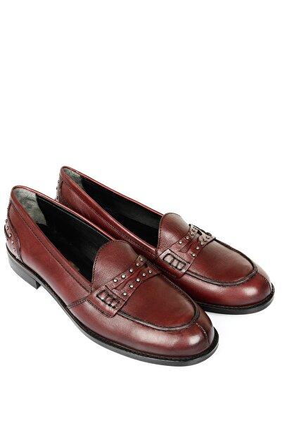 G.Ö.N Kadın Kahverengi Deri Ayakkabı 23318