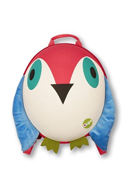 OOPS Çocuk Kırmızı Mavi Oval Sırt Sevimli Kuş   Çantası