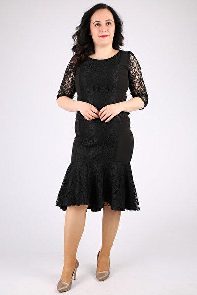 Günay Kadın Siyah Kısa Abiye Elbise Ugz3017