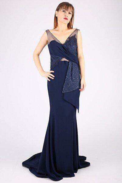 Günay Kadın Lacivert Abiye Elbise