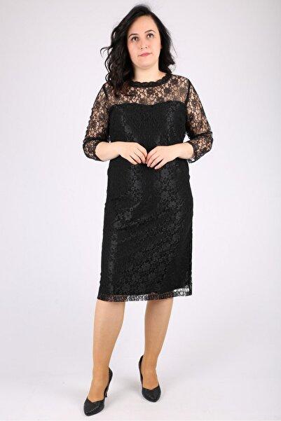 Günay Kadın Siyah Abiye Elbise