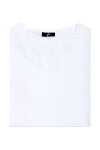 İgs Erkek Beyaz Modern Fit T-Shirt