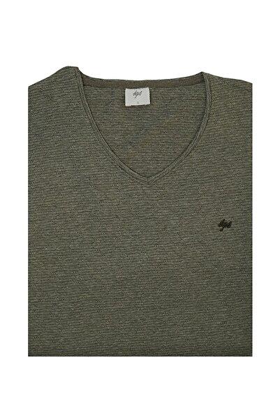 İgs Erkek Haki Slim Fit Tişört
