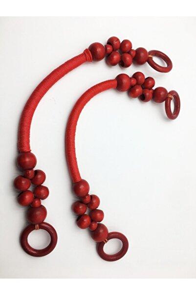 İDİL Kırmızı Boncuklu Çanta Sapı