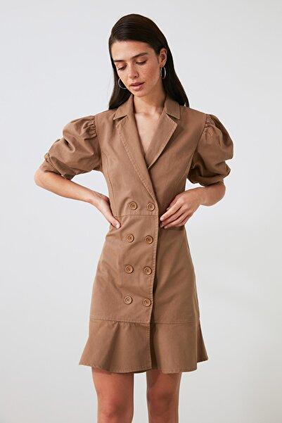 TRENDYOLMİLLA Camel Ceket  Elbise TWOAW21EL2315