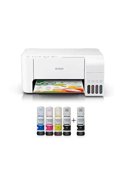 EPSON Tanklı L3156 Photoink Mürekkepli Yazıcı 4 Renk Bitmeyen Kartuşlu (2 Siyah Mürekkep Hediyeli)