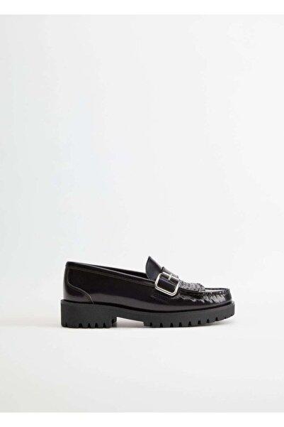 Violeta by MANGO Kadın Lacivert Ayakkabı 77072528