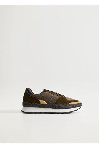 MANGO Man Erkek Kahverengi Spor Ayakkabısı